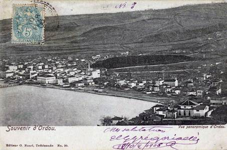 Postcard showing Kotyora (Ordu) before the Population Exchange